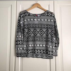 H&M Tribal Print Light Sweater